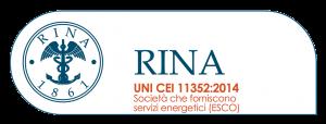 Logo Rina con certificazione UNI CEI 11352:2014
