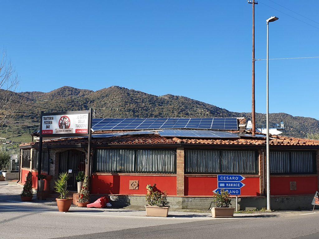 Foto prospettiva locanda del carrettiere con impianto fotovoltaico Siciliano da 20kW