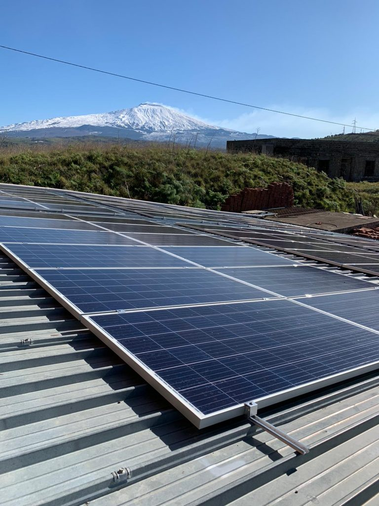 Foto impanto fotovoltaico - Bar Paladino