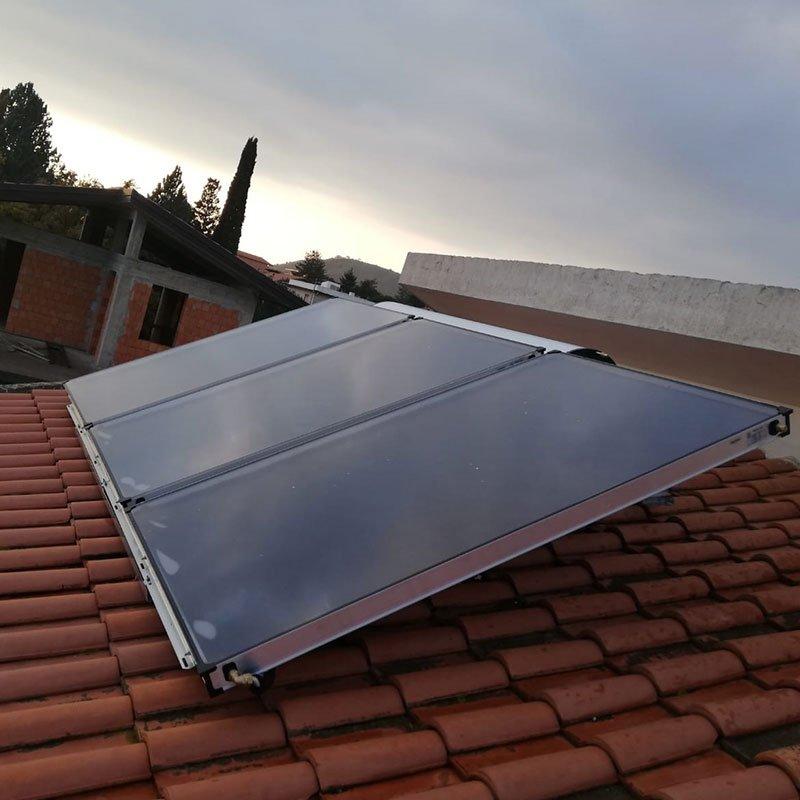 Installazione conclusa del solare Termico a 3 pannelli con Boiler da 320 lt
