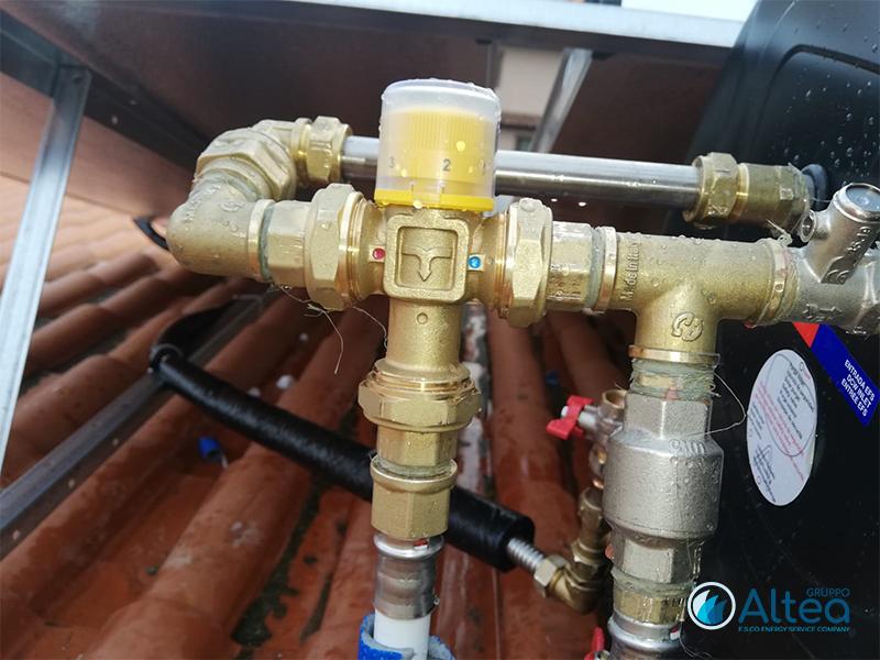 tubazione idraulica per solare termico