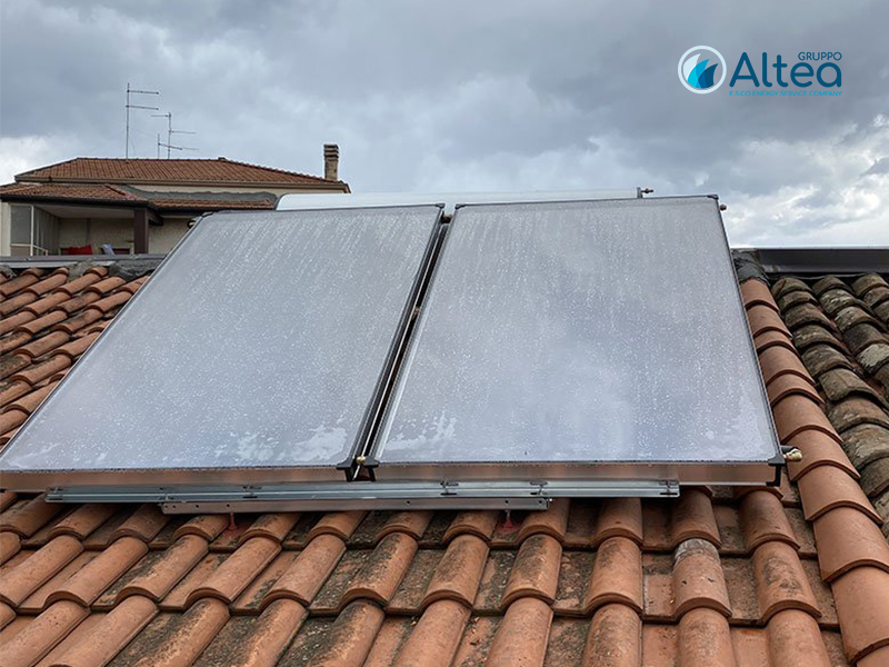 impianto solare con 2 pannelli delpaso solar