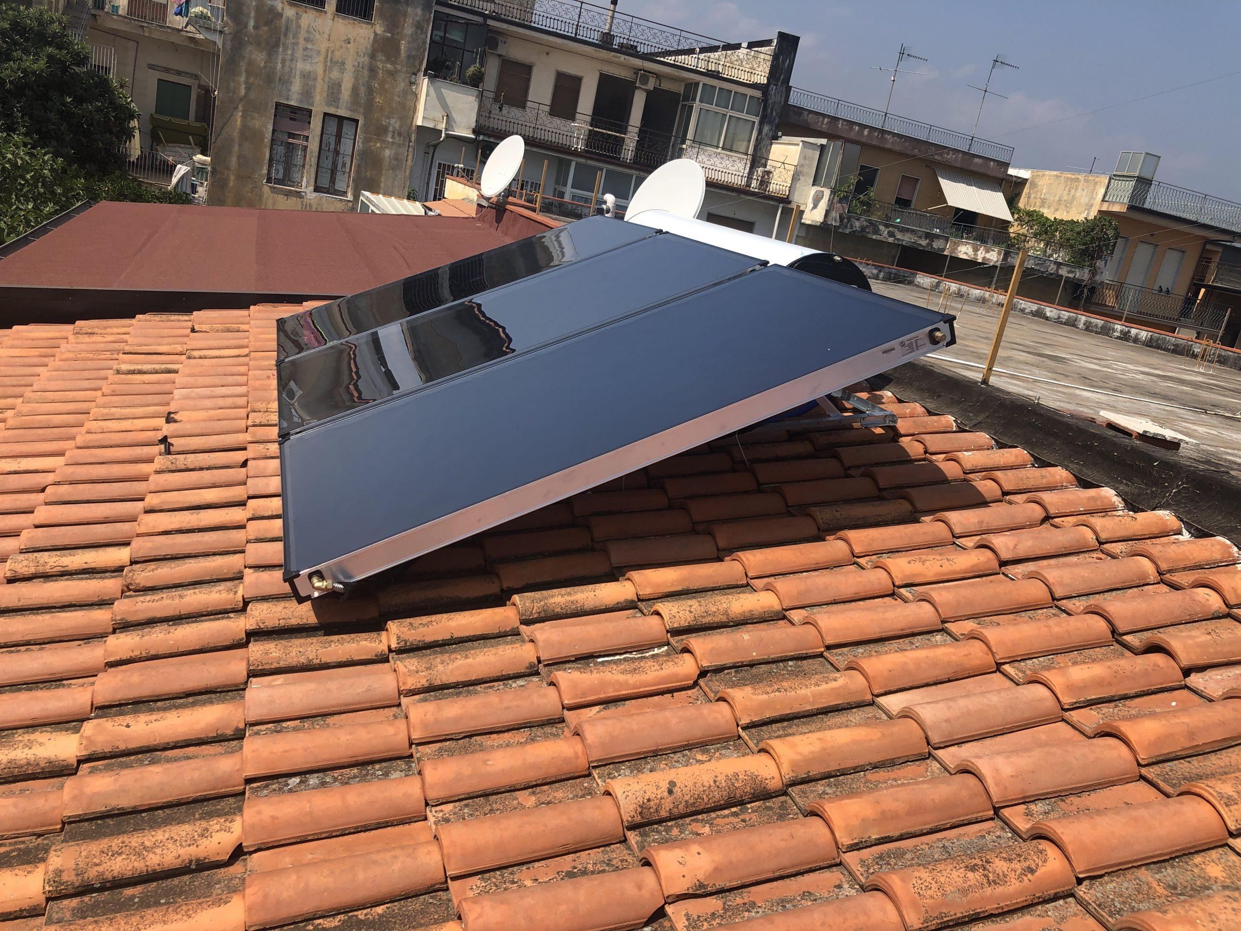 Impianto solare Termico già montato con biole 320 lt