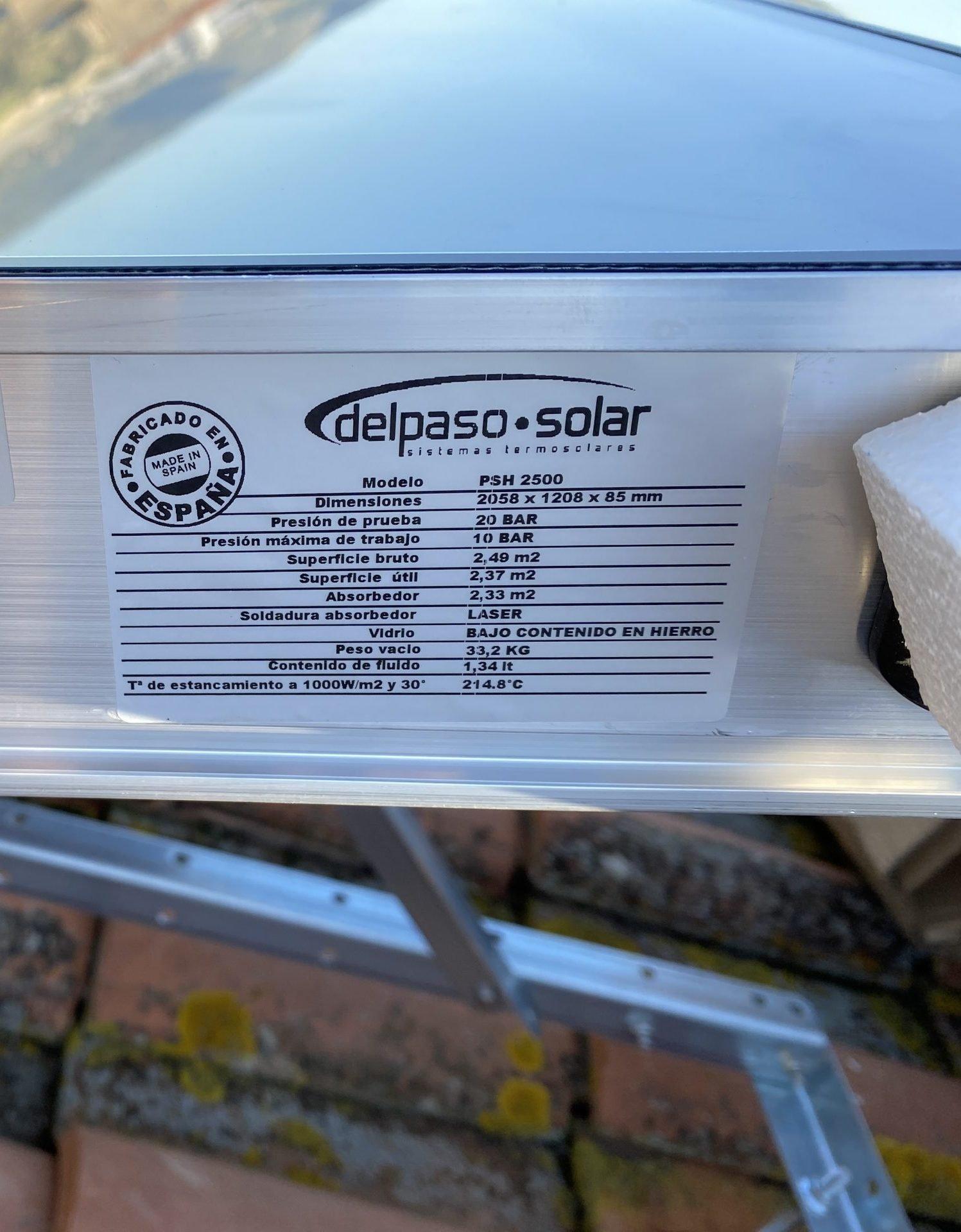 dettaglio tecnico pannello solare Del Paso
