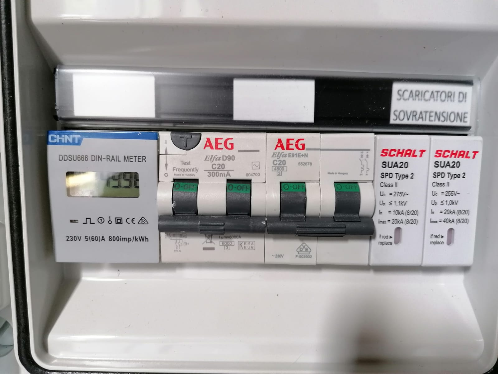 Quadro AEG impianto elettrico Fotovoltaico