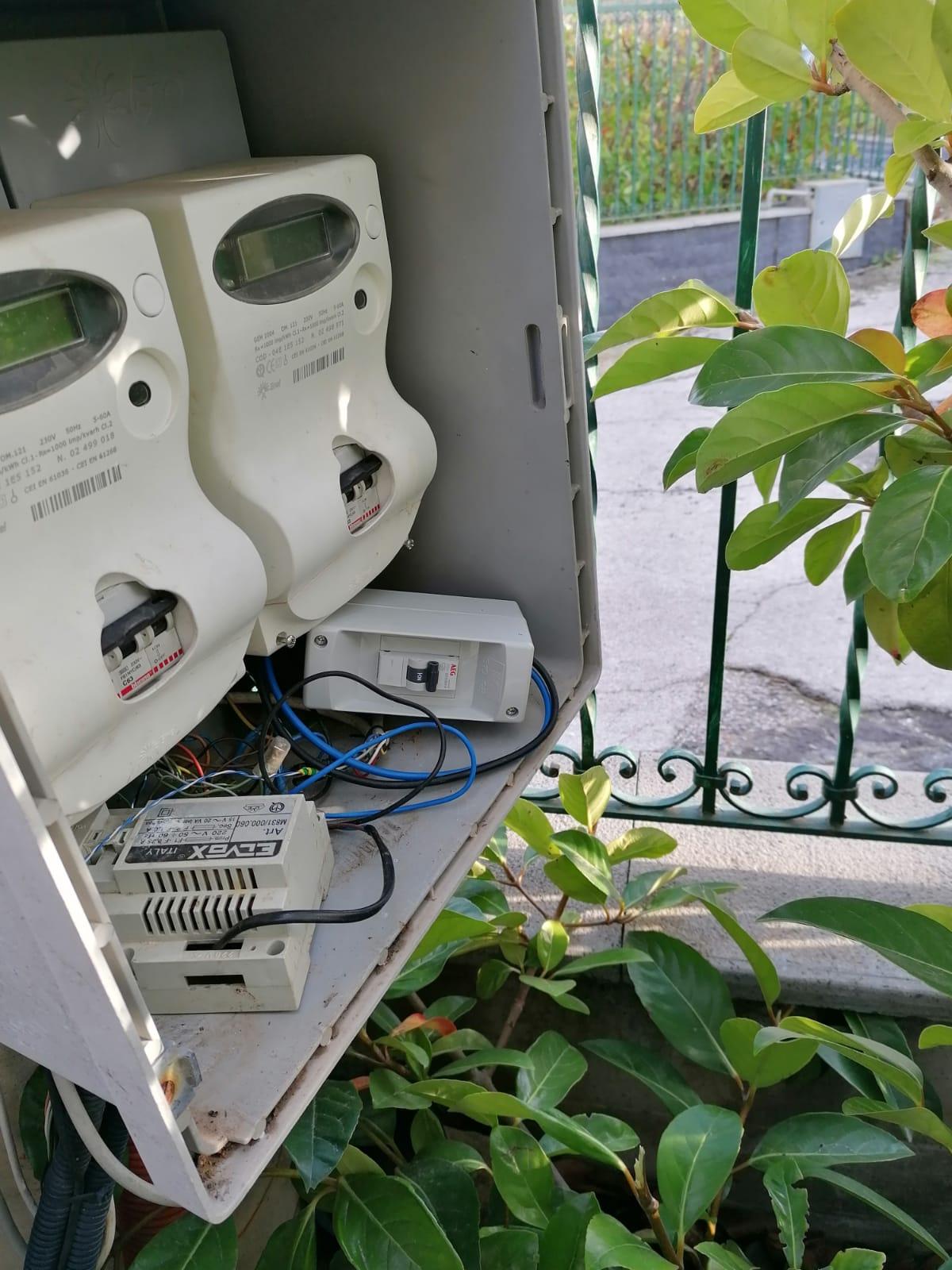 Contatore luce e allaccio con impianto fotovoltaico