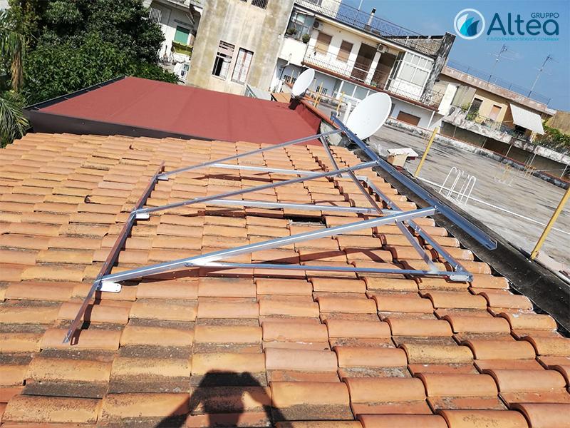 struttura metallica per solare termico
