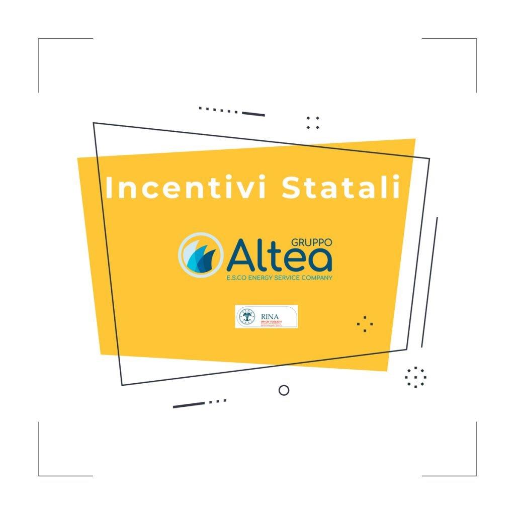 incentivi statali Gruppo Altea Widget promo
