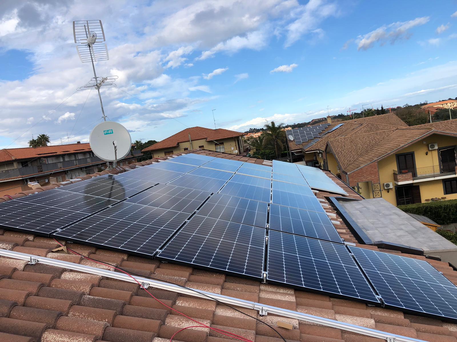 impianto fotovoltaico completa