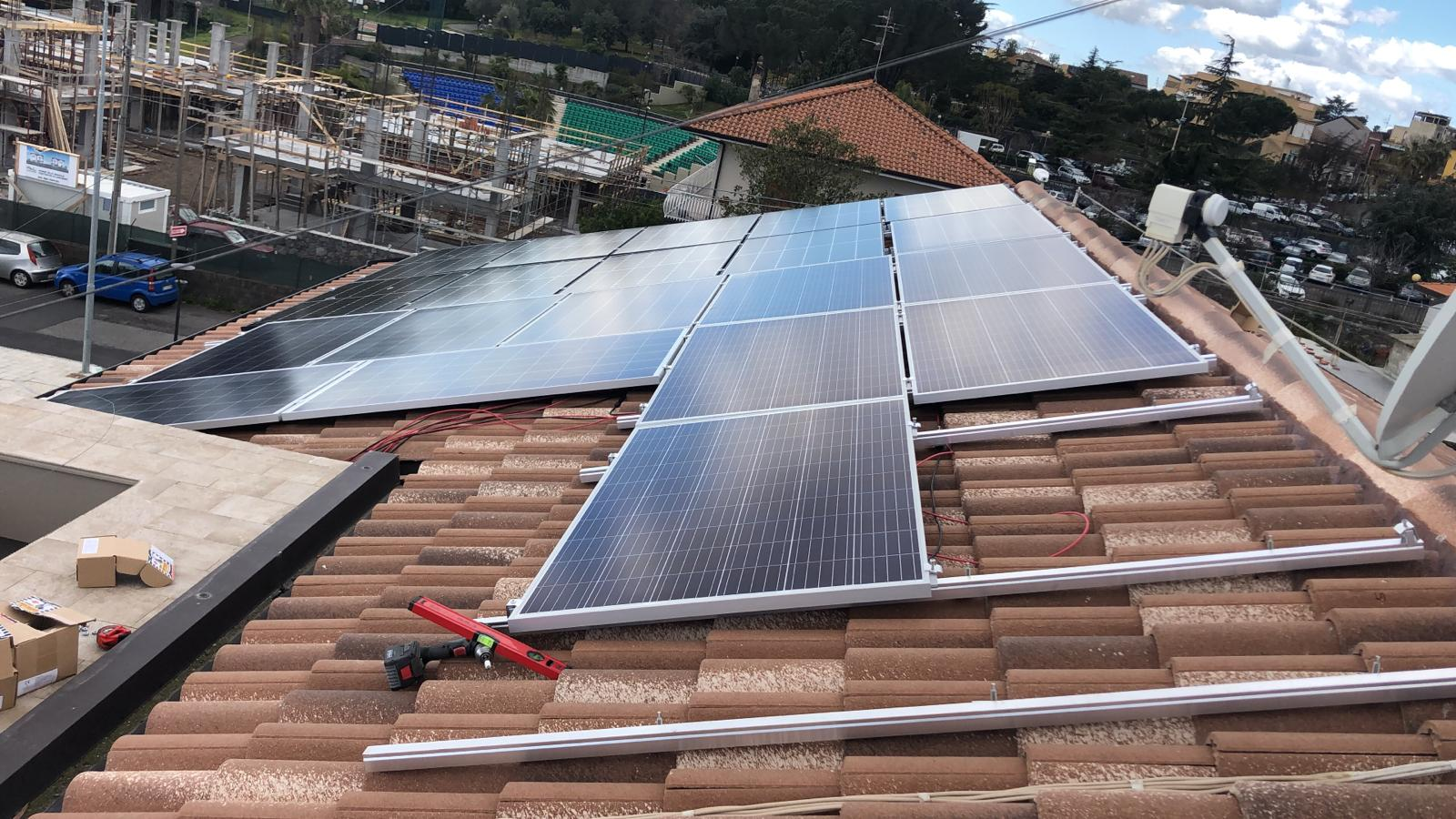 work in progress Fotovoltaico