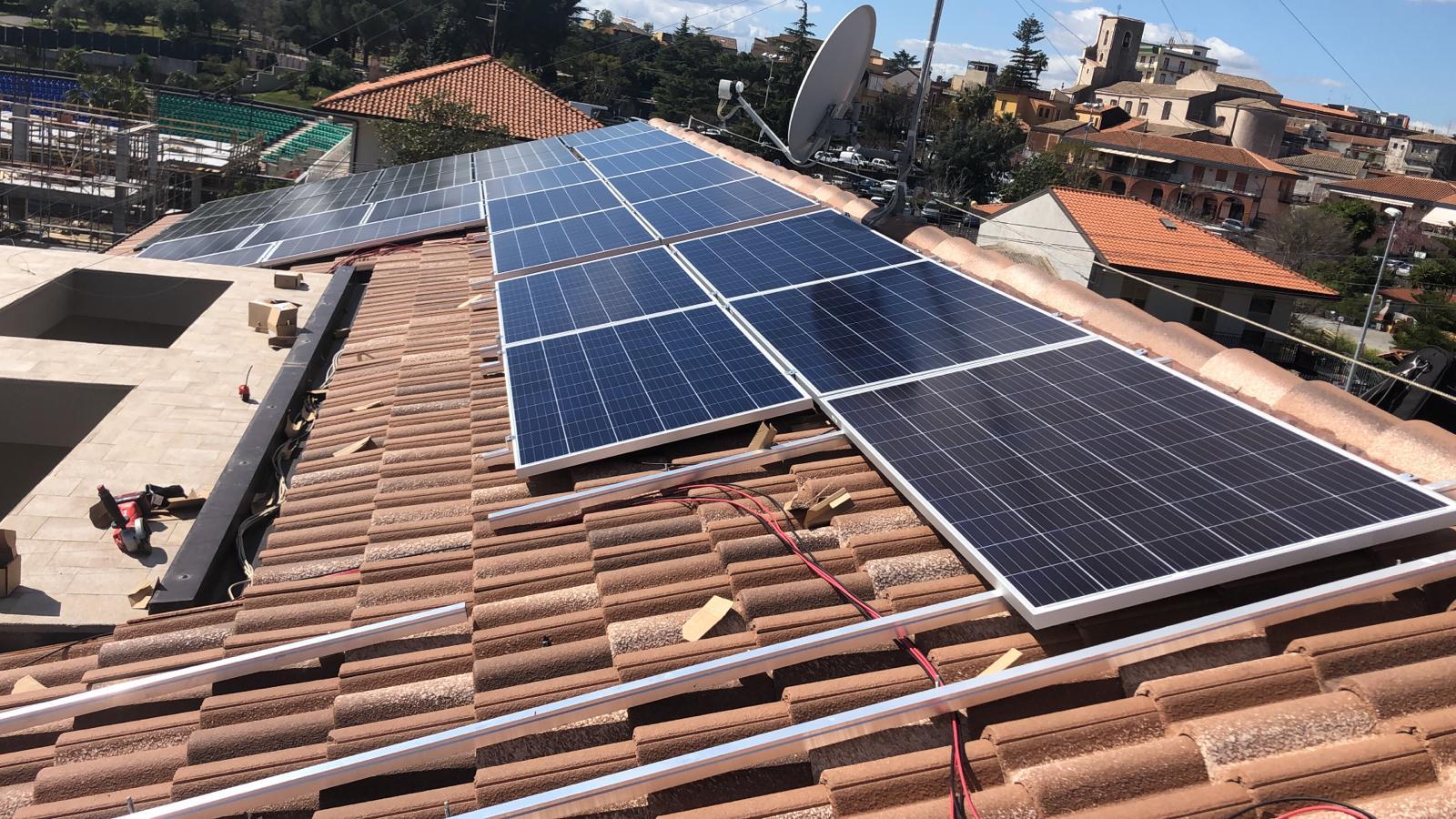 fotovoltaico installato a l