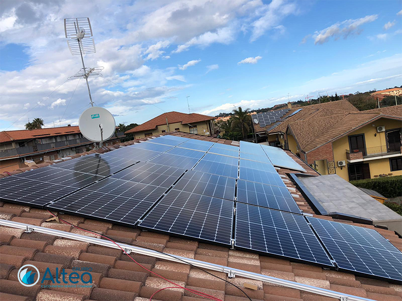 impianti FV su case nuove fotovoltaico