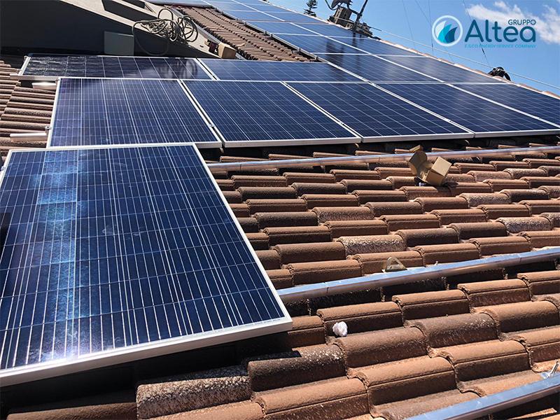 panneli fotovoltaici a tetto