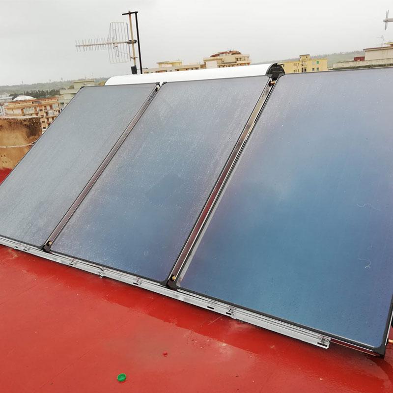 impianto solare termico - boiler 320lt di acqua calda
