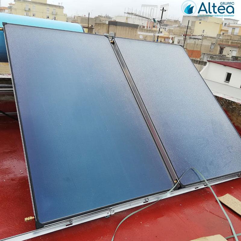 primo montaggio secondo pannello impianto solare termico