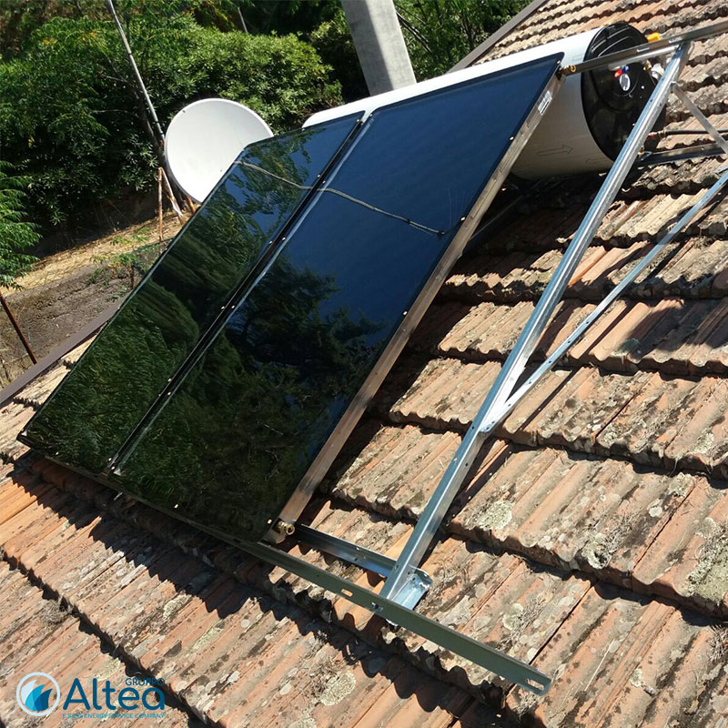impianto solare in costruzione