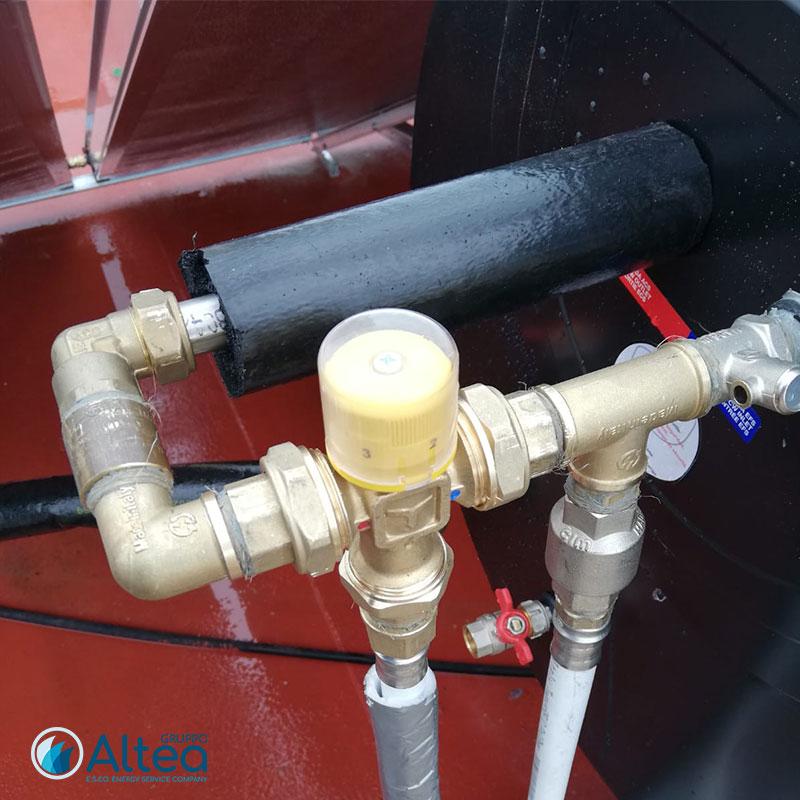 impianto idrico acqua per impianto solare termico